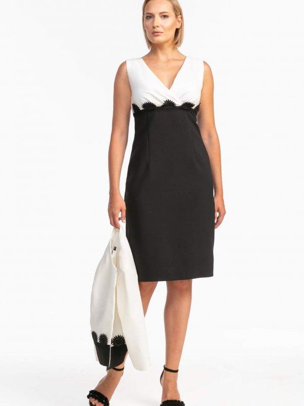 Φόρεμα με κρουαζέ μπούστο 1