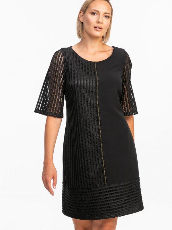 Φόρεμα με δίχτυ μανίκι 1