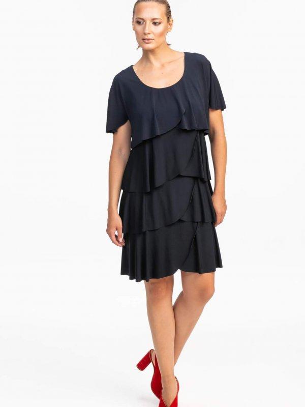 Φόρεμα mini με βολάν 1