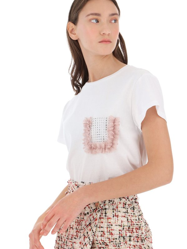 T-shirt με τούλι και στρας 1