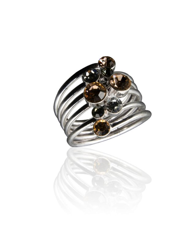 Δαχτυλίδι ασημί με κρύσταλλα 1