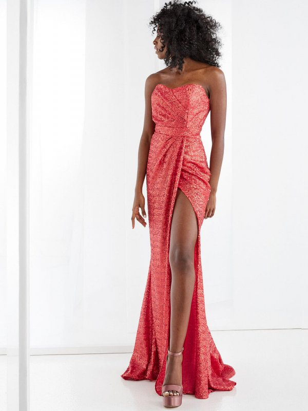 Maxi φόρεμα με παγιέτα 1