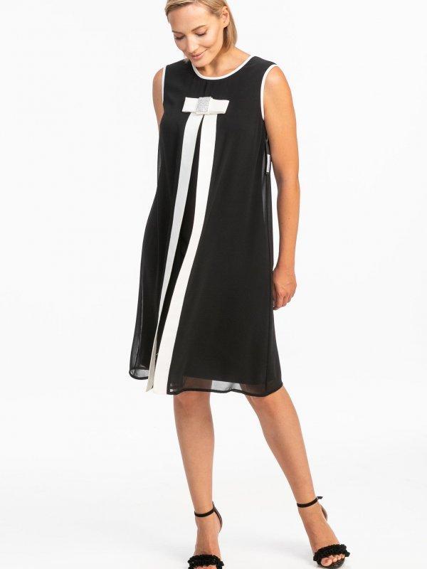 Φόρεμα αμάνικο με διαφάνεια 1