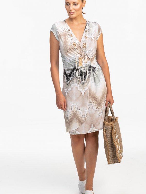 Κρουαζέ εμπριμέ φόρεμα 1