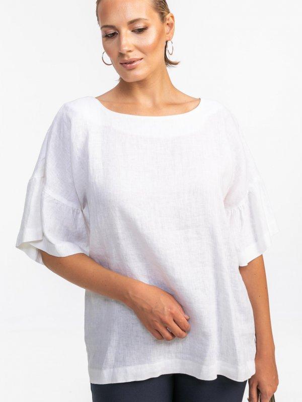 Μπλούζα με βολάν μανίκι 1