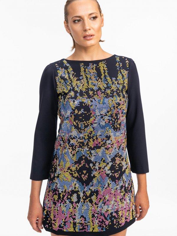 Mini φόρεμα με τρουκς 1