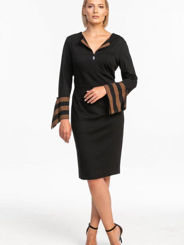 Μίντι φόρεμα με φερμουάρ στο μπούστο 1