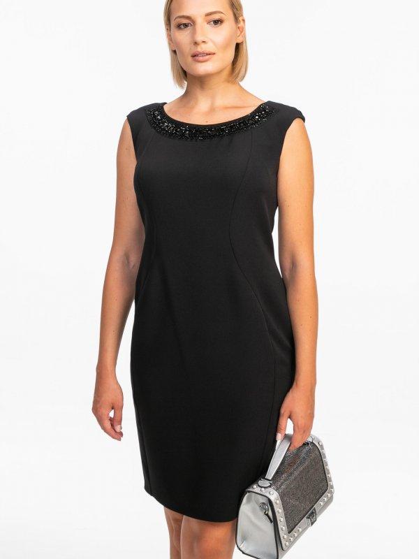 Αμάνικο μίντι φόρεμα με μοτίφ 1