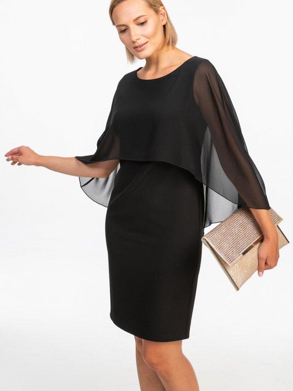 Κοντό φόρεμα με διαφάνεια 1