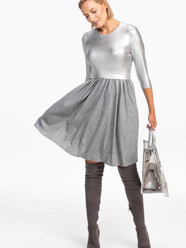 Μεταλιζέ lurex φόρεμα 1