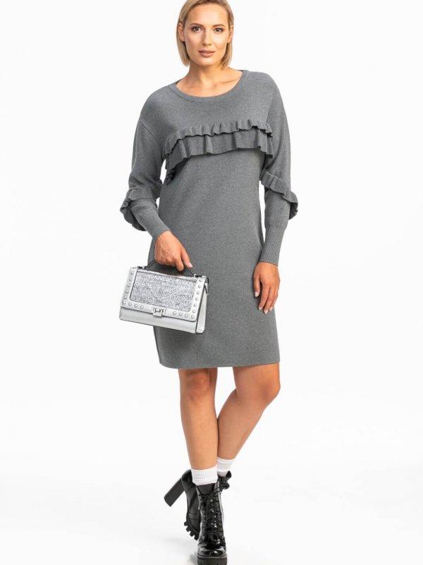 Midi φόρεμα με βολάν 1