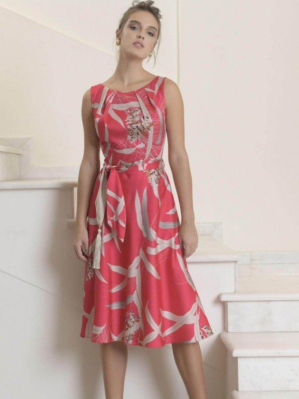 Μίντι αμάνικο φόρεμα εβαζέ 1