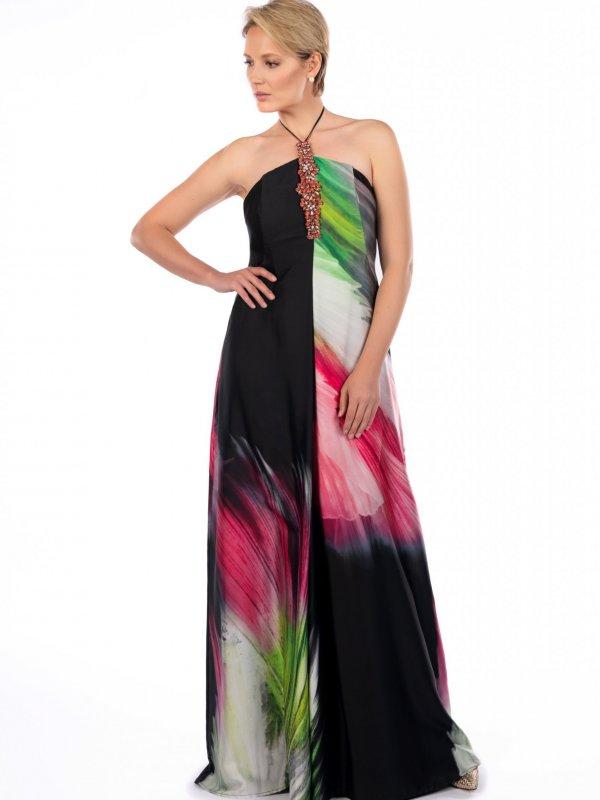 Maxi φόρεμα με μοτίφ 1