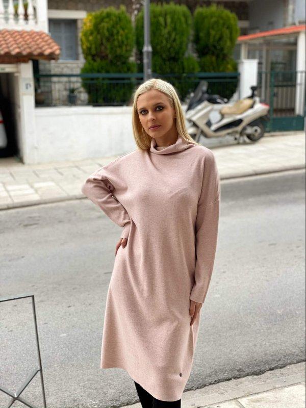 Πλεκτό φόρεμα ζιβάγκο 1