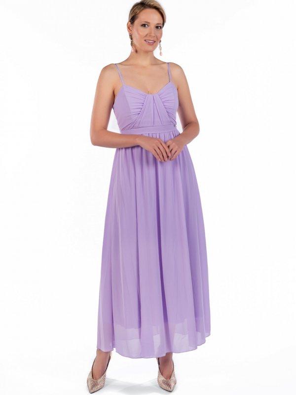 Φόρεμα με ντραπέ στο στήθος 1