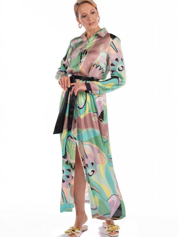 Φόρεμα σεμιζιέ με σχέδια 1