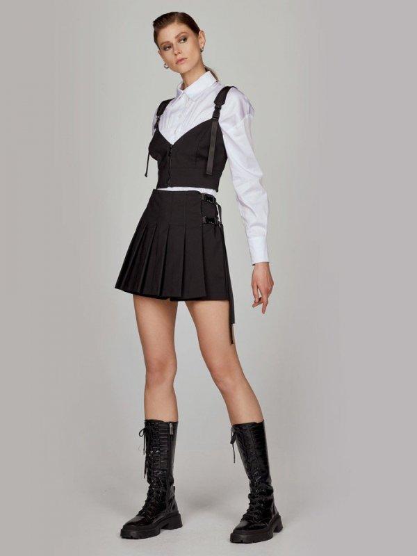Μίνι φούστα σόρτς με πιέτες 1